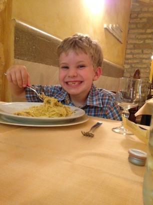 happiness is spaghetti carbonara