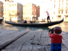 a gondola on the Grand Canal, Venice