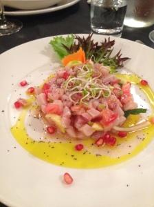 swordfish tartare at Alle Testiere