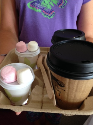flat whites for us, fluffies for them