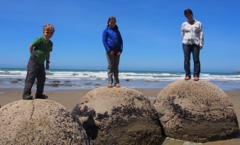 on the Moeraki Boulders