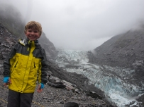 Miles at Fox Glacier