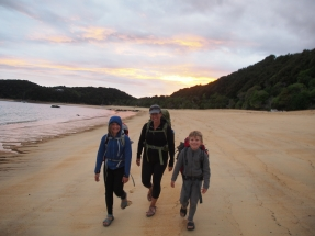 early morning on the Abel Tasman to catch a tidal crossing