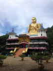 big gold Buddha in Dambulla