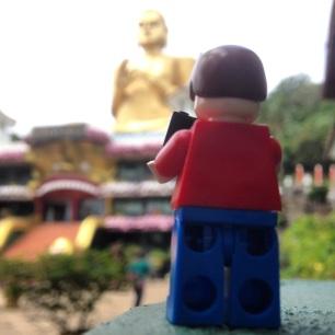 Big gold buddha, Dambulla, Sri Lanka