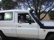 Vance in the ute, with snorkel