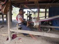 loom set up for weaving