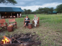 sundowners at Chaka Camp