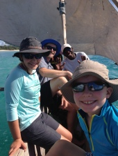 going snorkeling via dhow