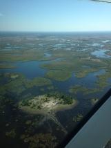 view over the Okavango