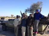 with our Lebala guide Bates and tracker Double T