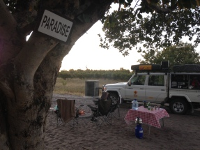 Paradise- our camp site in Savuti